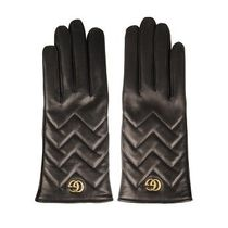 Gucci 18fw GG Marmont leather gloves