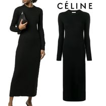 【18AW】★CELINE★fitted long dress