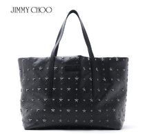 国内即発★Jimmy Choo PIMILICO GRY BLACK トートバッグ
