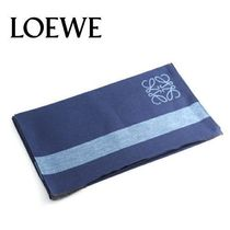 18AW ☆LOEWE☆ ANAGRAM SCARF マフラー NAVY BLUE/BLUE♪