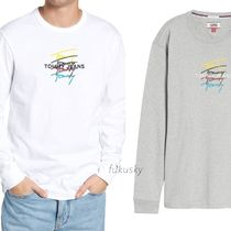 TOMMY JEANS★US限定★送料込★トミーリピートロゴ長袖Tシャツ