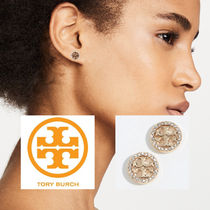 TORY BURCH ★ Crystal Logo Circle ピアス