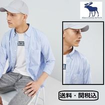 Abercrombie & Fitch コア ポプリン アイコンロゴ シャツ