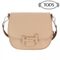 TOD'S(トッズ) ショルダーバッグ・ポシェット 【VIP価格】TOD'S BISACCIA DOUBLE T IN PELLE  Nocciola