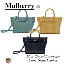 マルベリー☆ Mini Zipped Bayswater☆鞄☆2way☆ Cross Grain☆