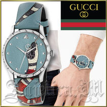 送料関税追跡込★GUCCI G-Timeless Blue Snake Watch YA1264080