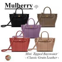 マルベリー☆Mini Zipped Bayswater☆鞄☆2way☆Classic Grain☆
