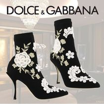 VIP価格【Dolce & Gabbana】EMBROIDERED ANKLE BOOTS 関税込
