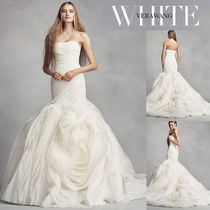 【White by Vera Wang】Bias-Tier Trumpet Wedding Dress