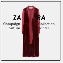 ZARA★Campaign Collection ベルベット風ワンピース