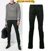 19SS YSL LOW WAISTED SKINNY JEANS IN COATED BLACK VIP価格