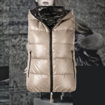 **DUVETICA**2018-19AW Beige and black padded vest ダウン
