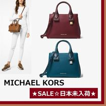 ◆MK◆Rollins Small Snake-Embossed Leather Satchel