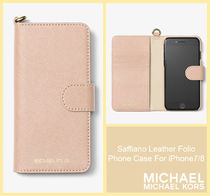 [セール]マイケルコース☆Saffiano Leather Folio Phone Case