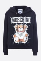 Moschino■AW18/19Safety Pin Teddy プリント フーディー