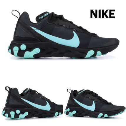 Nike スニーカー 入手困難!Nike ナイキ  React Element 55  Black Aurora Green