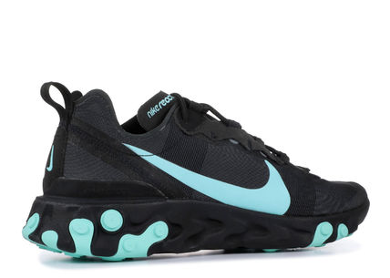 Nike スニーカー 入手困難!Nike ナイキ  React Element 55  Black Aurora Green(4)