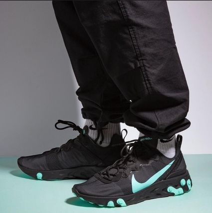 Nike スニーカー 入手困難!Nike ナイキ  React Element 55  Black Aurora Green(6)