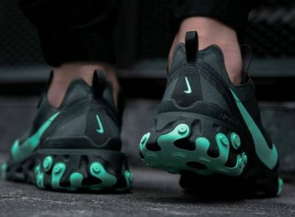 Nike スニーカー 入手困難!Nike ナイキ  React Element 55  Black Aurora Green(8)