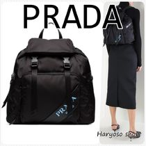 VIP価格★PRADA★leather patch technicalナイロンバックパック