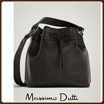 MassimoDutti♪BLACK NAPPA BUCKET BAG