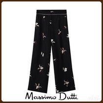 MassimoDutti♪FLORAL PRINT TROUSERS WITH CONTRAST PIPING