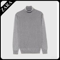 ☆ Men's ZARA☆ TEXTURED SWEATER WITH ELBOW PATCHES