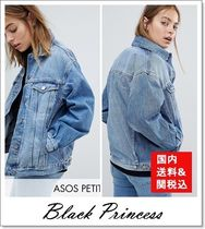 国内送関込★ASOS★denim girlfriend jacket lightwash blue