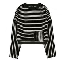 日本未入荷VOIEBITのV543 STRIPE CROP KNIT