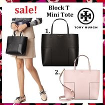 セール 新作 Tory Burch Cuteミニトート Block-T Mini Tote 2way