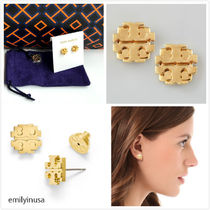 即発 Tory Burch★SMALL T LOGO STUD EARRING ピアス*可愛い