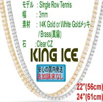 """LA発☆King Ice☆HipHopチェーン CZ Tennis 3mm 22"""" - 24"""""""