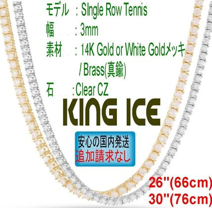 "King Ice ネックレス・チョーカー LA発☆King Ice☆HipHopチェーン CZ Tennis 3mm 26"" - 30"""