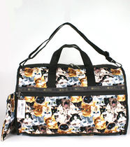 "☆US LeSportsac ""CAT CAFE"" L WEEKENDER 7185 - D976"