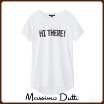 MassimoDutti♪COTTON 'HI THERE' T-SHIRT