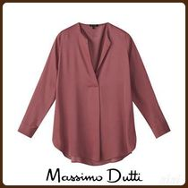 MassimoDutti♪OVERSIZED BLOUSE WITH FRONT PLEAT