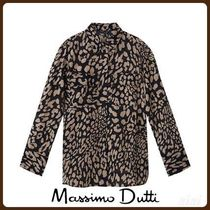 MassimoDutti♪LEOPARD PRINT COTTON/SILK SHIRT