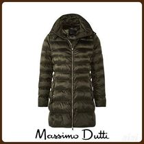 MassimoDutti♪LONG QUILTED JACKET WITH REMOVABLE HOOD