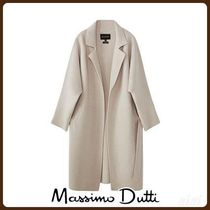 MassimoDutti♪KNIT WOOL COAT WITH BELT
