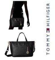 【Tommy Hilfiger 】♡ Convertible Tote - Pebble Leather