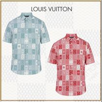 2018AW☆ルイヴィトン☆LV☆CHEMISE DROITE A MANCHES COURTES