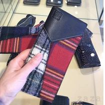 LOEWE セール★Billetero largo tartan