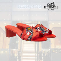 【18AW】HERMES/エルメス サンダル Sandales Oasis coquelicot