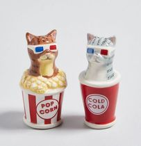 Cinematic Kitties Cat Shaker Set 猫 ソルト&ペッパー