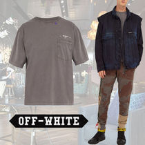 **Off-White**★Patch-pocket short-sleeved T-shirt Tシャツ