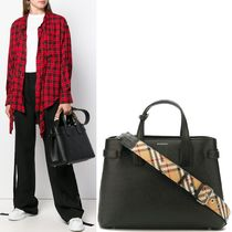 18-19AW BB098 MEDIUM BANNER IN LEATHER & VINTAGE CHECK