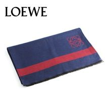 18AW ☆LOEWE☆ ANAGRAM SCARF マフラー NAVY/RED♪