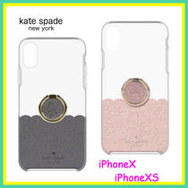 Kate Spade★iPhone X/ XS バンカー付き クリアー スマホ ケース