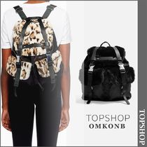 【国内発送・関税込】TOPSHOP★Boston Faux Fur Backpack