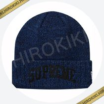 18AW /Supreme New Era Arc Logo Beanie ニット帽 アーチロゴ 青